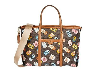 MICHAEL Michael Kors Beck Medium Convertible Tote (Brown Multi) Tote Handbags