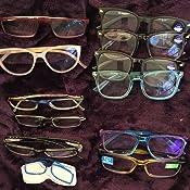 gafas de lectura honglilai Gafas presbit/ópicas peque/ñas y compactas unisex de metal con estuche para bol/ígrafo fuerza 1.00, amarillo