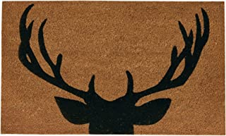 Park Design 38 Inches x 19 Inches Natural Coir Fibers Antlers Doormats