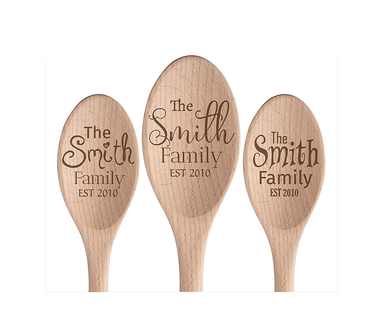 Personalized Max 88% OFF Family Wooden Spoon All items in the store 12 Designs -