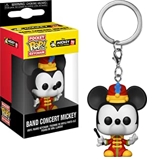 Funko Pop Keychain: Mickey's 90Th - Band Concert Mickey Collectible Figure, Multicolor