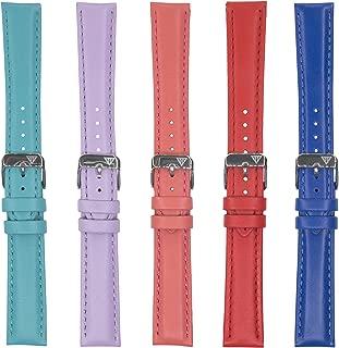 Dakota Unisex-Adult 4602 Colorful Genuine Leather Band (16 mm, 18 mm), 16 mm, Dark Blue