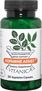 Vitanica Dopamine Assist, Neurotransmitter Mood Support, Vegan/Vegetarian, 60 Capsules