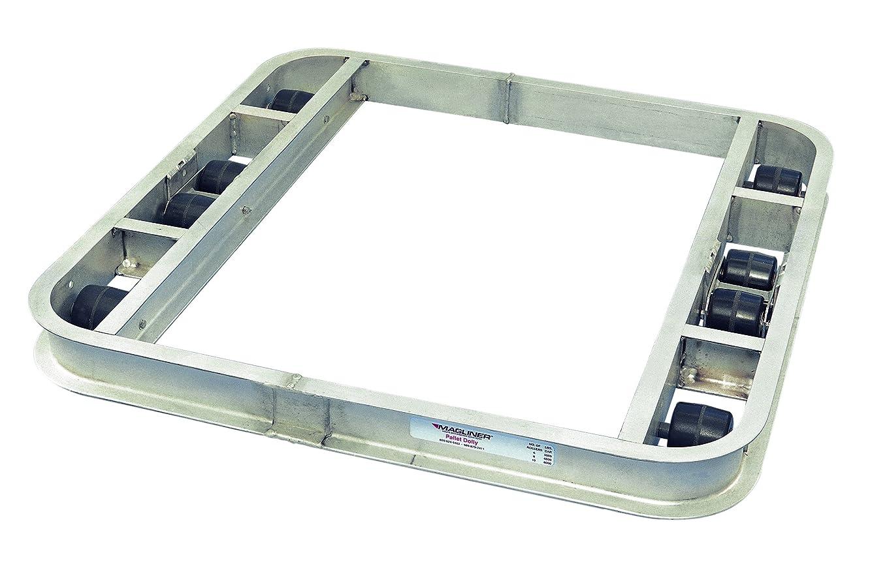 Magliner PDN363608 Aluminum Pallet Dolly, 8 Roller, Non-Tilt, 6000 lb Capacity, 36