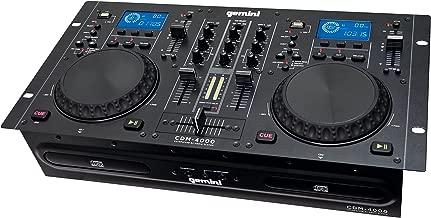 Gemini CDM Series CDM-4000 Professional Audio CD/MP3/USB DJ Media Player Console with Dual Jog Wheel, LCD Screen, Anti-Shock