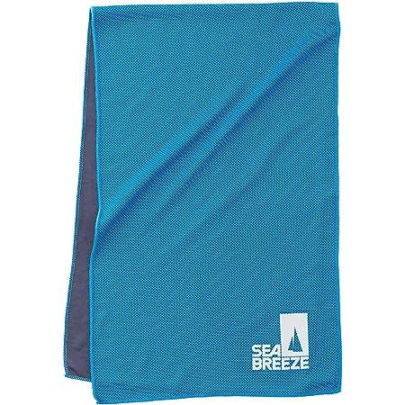 Sea Breeze クールタオル 冷感タオル 速乾タオル 95x30 (ブルー 1枚, 95cm×30cm)