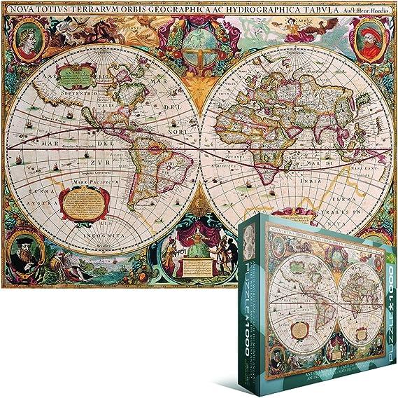 Eurographics Puzzle 1000 pièces Puzzle-Antique World Map EG60002006