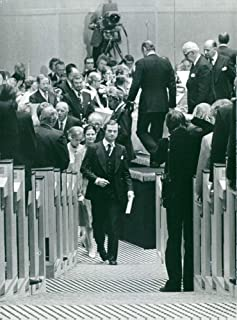 Vintage photo of King Carl XVI Gustaf and Queen Silvia at the opening of the Riksdag