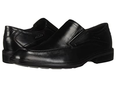 ECCO Windsor Apron Slip-On (Black Calf Leather) Men