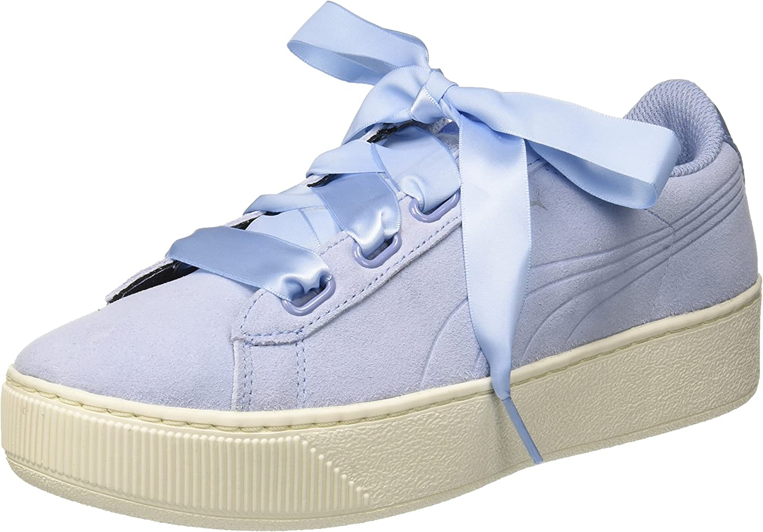 PUMA Women's Vikky Platform Ribbon S Low-Top Sneakers, Cerulean-Cerulean, 5.5 UK