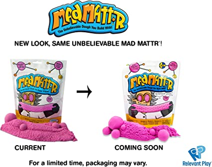 Mad Mattr Super-Soft Modelling Dough Compound That Never Dries Out, 10 Ounces, Pink