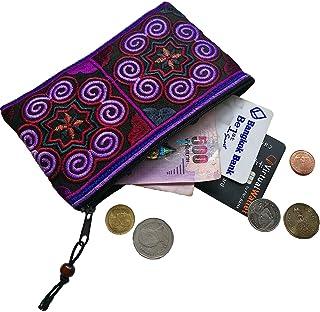 Sabai Jai - Handmade Coin Purse - Small Embroidered Boho Change Purse Pouch