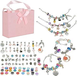 Bracelet Making Kit for Girls,85PCs Charm Bracelets Kit with Beads, Jewelry Charms, Bracelets for DIY Craft, Jewelry Makin...