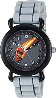 DISNEY Boys Incredibles 2 Analog-Quartz Watch with Silicone Strap, Grey, 16 (Model: WDS000566