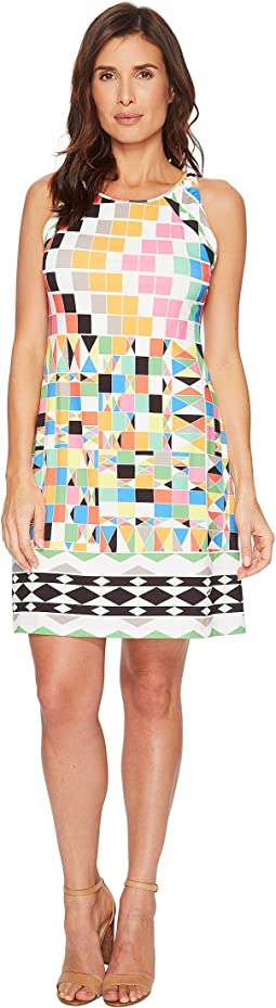 Hale Bob Check Yourself Matte Microfiber Jersey Dress