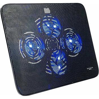 サンワダイレクト ノートパソコンクーラー 冷却台 静音 15.6インチ対応 4ファン USB給電 スタンド付き 400-CLN026