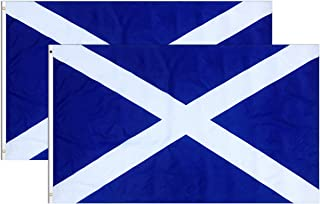 Consummate Scotland Flag Scottish National Flags 3x5 ft Polyester Flag Banner with Brass Grommets,2 Pack