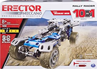 Erector by Meccano Rally Racer 10-in-1 Building Kit, 159 Parts, STEM Engineering Education Toy for Ages 10 and Up