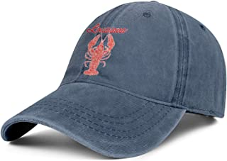 Fitted Mens Jeans Dad Hat Unisex Louisiana Crawfish Typography Womens Baseball Cap Golf Cap