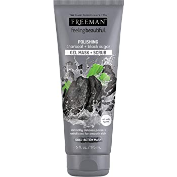 Freeman Facial Charcoal and Black Sugar Polish Mask, 6 Oz