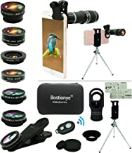 Cell Phone Camera Lens Kit,11 in 1 Universal 20x Zoom Telephoto Lens,0.63Wide Angle+15X..