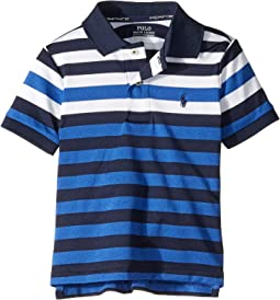 Striped Performance Lisle Polo (Toddler)