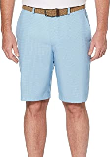 PGA TOUR Men's Two Tone Flat Front Golf Short with Active Waistband