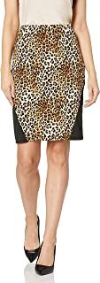 Star Vixen Women's Plus-Size Stretch Sexy Secretary Pencil Skirt with Insets