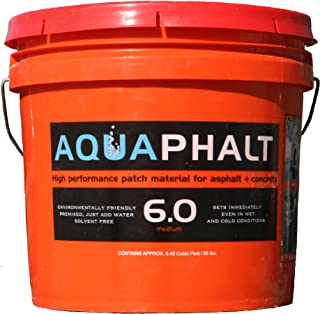 Aquaphalt Available 6.0 Permanent Repair, 3.5 Gallon, Black