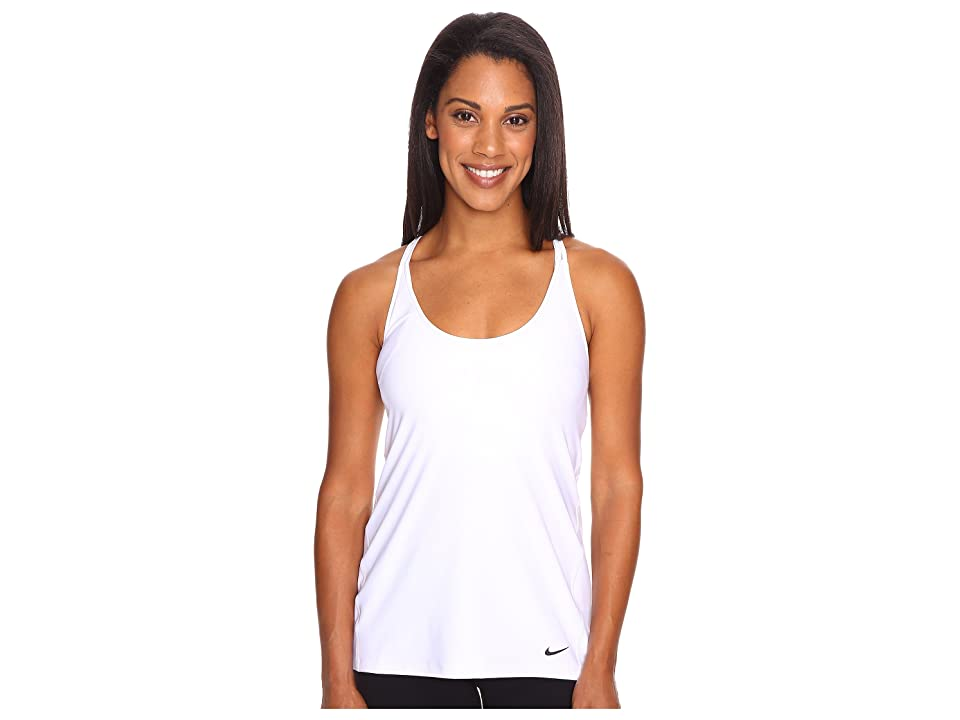 Nike Strappy Training Tank (White/Black) Women