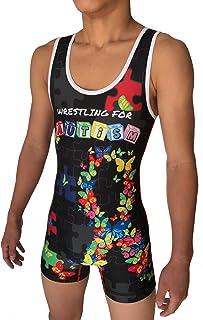 TRI-TITANS WRESTLING for AUTISM 摔跤汗衫 Folktyle 男式和青少年