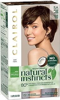 Clairol Natural Instincts Semi-Permanent, 5A Medium Cool Brown, Clove, 1 Count