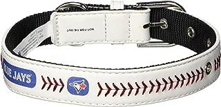 MLB Classic Leather Baseball Dog Collar