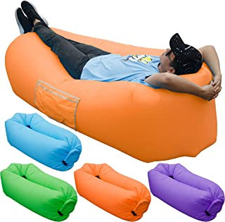 Skoloo Maple Leaf Inflatable Sofa, Portable Inflatable...