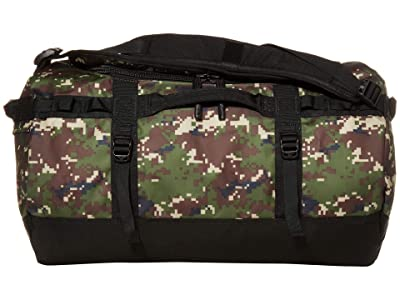 The North Face Base Camp Duffel Small (Burnt Olive Green Digi Camo/TNF Black) Duffel Bags