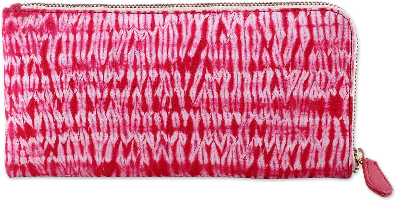 NOVICA Red Batik 100% Cotton Clutch, Cloven Cherry'