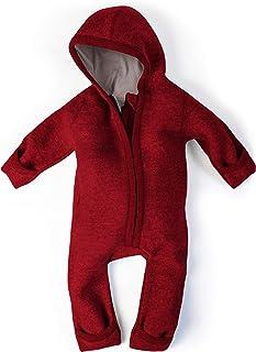 Ehrenkind WALKOVERALL   Baby Wollwalk-Overalls aus Natur Schurwolle mit Reißverschluss   Walk Wolle Woll-Anzug für Kleinkind und Baby Größen