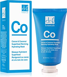 The Apothecary Collection by Dr Botanicals Cocoa & Coconut Superfood Reviving Hydrating Mask (30 ml / 1.01 fl oz), Blue