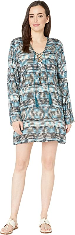 Re-Fresh Lace Front Tunic Cover-Up