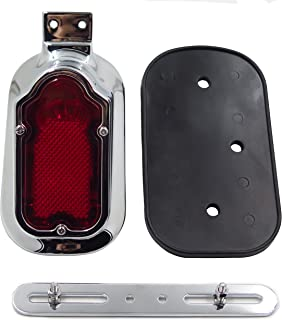 Motorcycle Motorcycle Chrome Red Tombstone Brake Tail Light Signal For Harley Davidson Bike
