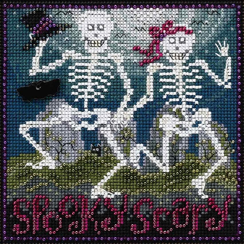 Spooky Scary Beaded Counted Cross Stitch Kit Mill Hill 2017 Buttons & Beads Autumn MH141723