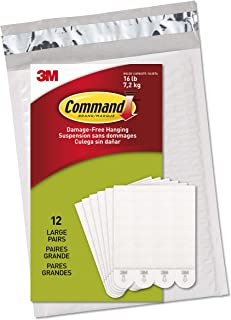 Command Picture & Frame Hanging Strips Value Pack, Large, White