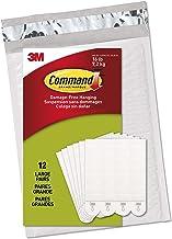 Command Grote plakstrips voor het ophangen van foto's, zwart, wit, 12 sets