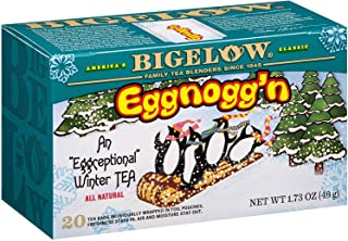 Bigelow Tea Tea Eggnogg'n Tea, 18 Bags, Caffeinated Individual Black Tea Bags, for Hot Tea or Iced Tea, Drink Plain or Sweetened With Honey or Sugar, 6Count