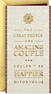 Hallmark Wedding Card Money Holder or Gift Card Holder (Two Great People, One Amazing Couple)