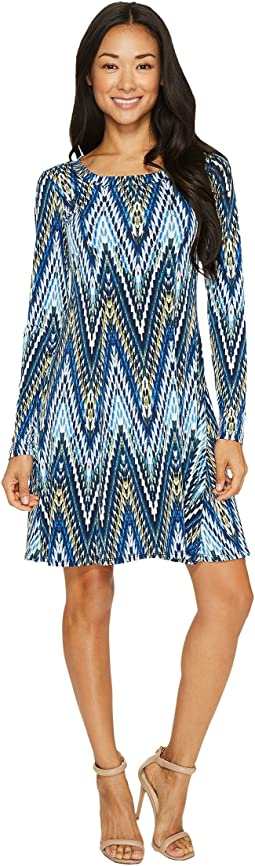 Karen Kane - Long Sleeve A-Line Dress