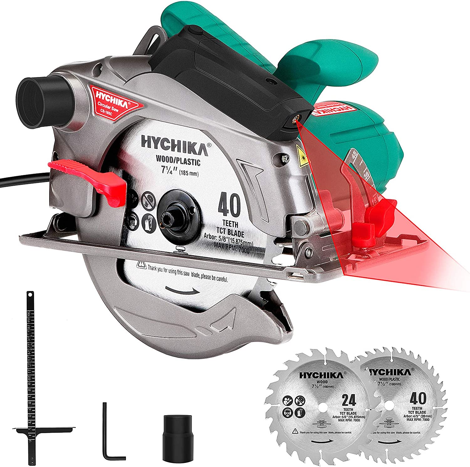 Circular Saw 35% OFF with Cheap mail order specialty store Laser Guide 12.5A HYCHIKA Corded Electri 1500W