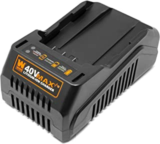 WEN 40400C 40V Max Lithium-Ion Quick Charger, Black