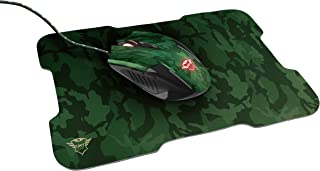 Trust GXT 781 Rixa Mouse gaming e tappetino per mouse, Camo Verde
