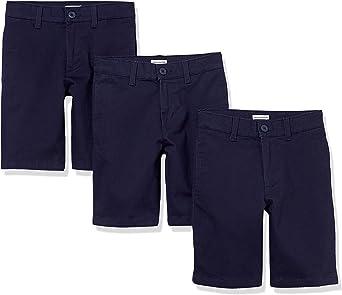 Amazon Essentials Pantalón Corto de Punto Caqui con Frente Plano Niños